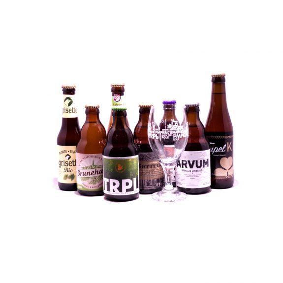 Bio pakket 8 flesjes en 1 glas