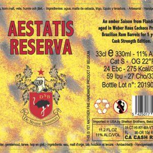 Struise Aestatis Reserva 2014